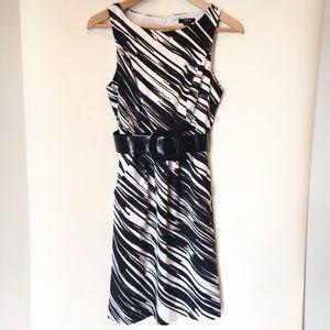 XOXO Black and white dress